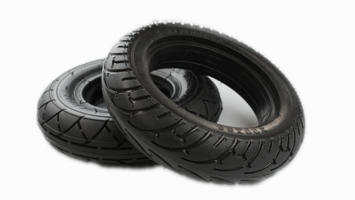 Electric scooter solid tires